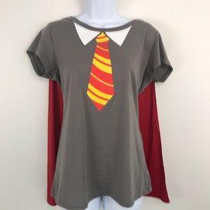 Harry Potter Gryffindor T-Shirt w/ Detachable Cape